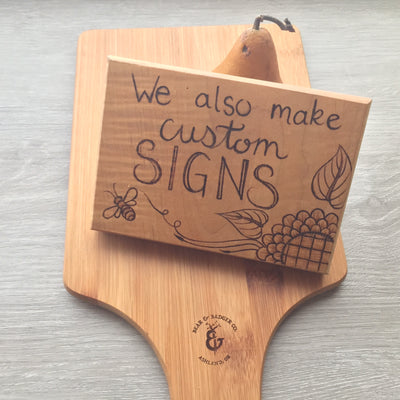 Custom Sign Work