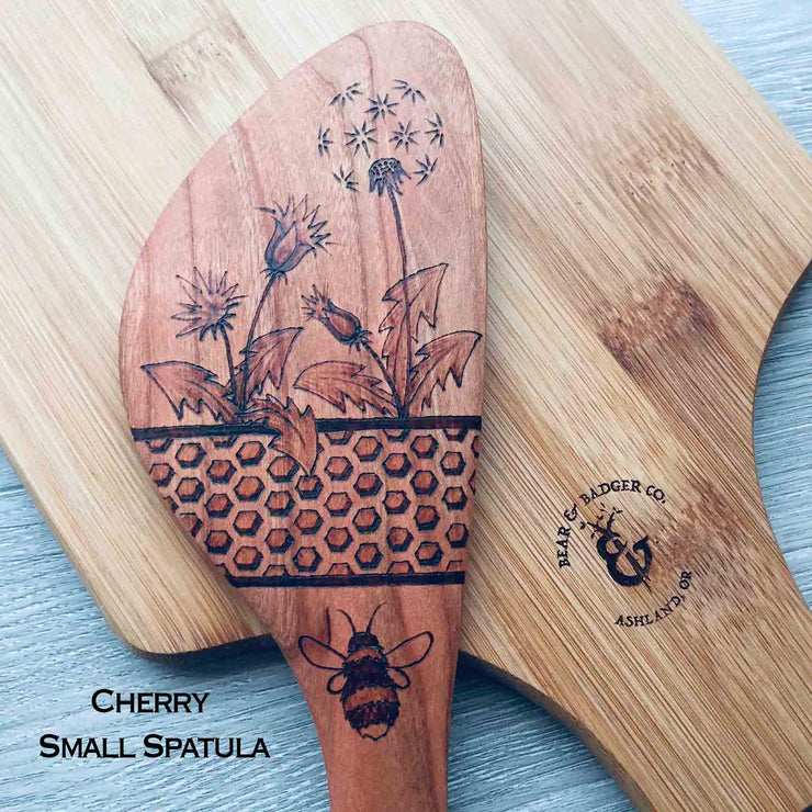 Honey Bee Themed | 3 Spatula Set | Hand Burned Kitchen Art
