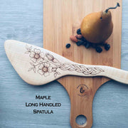 Wild Rose with Celtic Knot-work | Handmade Wooden Cooking Utensil