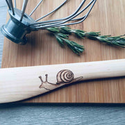 The Forest Critters | Wood Burned Kitchen Utensil Set of 3 | Snail, Spider and Moth