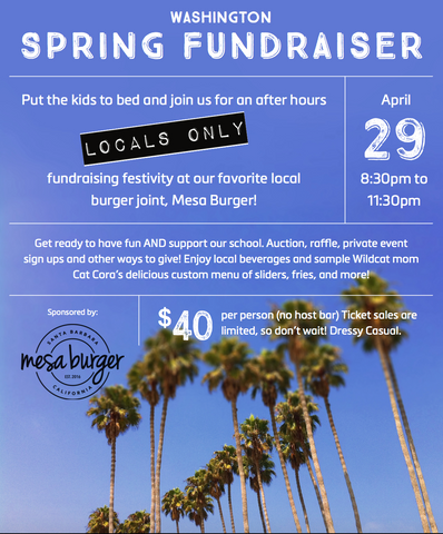 Mesa Burger Spring Fundraiser - April 29
