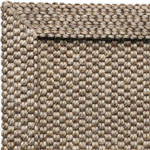 A corner from a self-bordered rug in Belgian Wild Rice Sisal