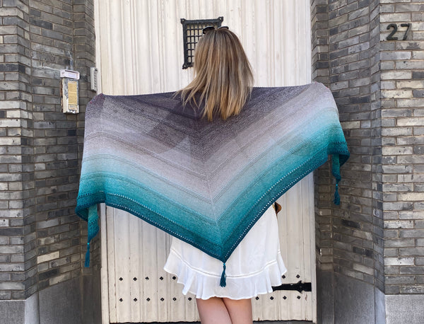New pattern Simple Whirl Shawl