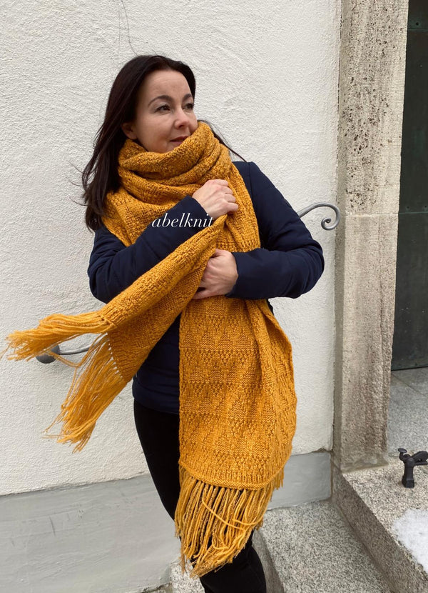 Knitting idea: Soave Pima for a huge cozy scarf
