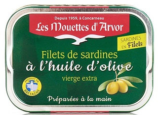 LES MOUETTES D'AVOR SARDINE FILLETS IN OLIVE OIL
