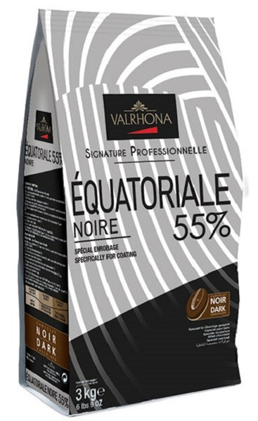 VALRHONA FEVES EQUATORIAL 55% 6.6 LB