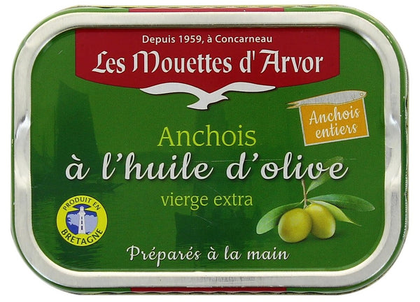 LES MOUETTES D'AVOR WHOLE ANCHOVIES IN OLIVE OIL