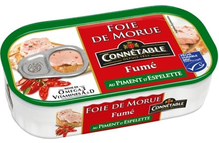 CONNETABLE COD LIVER SMOKED W/ESPELETTE 121 GR