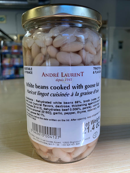 ANDRE LAURENT WHITE BEANS IN GOOSE FAT 21.4 OZ