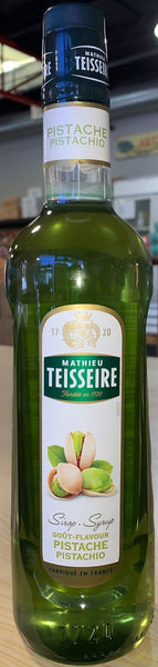 TEISSEIRE PISTACHIO SYRUP FOR DRINKS 70 CL