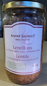 ANDRE LAURENT LENTILS IN GOOSE FAT 600 GR