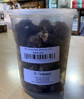 DRIED IMPORTED MORELS TUB