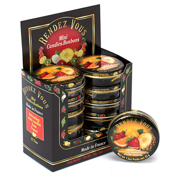 RENDEZ VOUS MIXED FRUIT PASTILLES 1.5 OZ