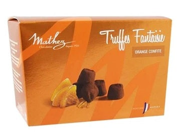 MATHEZ TRUFFLES W/ORANGE PEELS