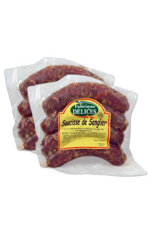 Wild Boar Sausage with Apple/Cranberries by Fabrique Delices (2 Packs)