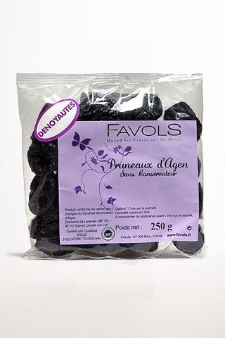 Gourmet Food - Favols Pruneaux D'Agen - Agen Pitted Prunes 8.8 Oz