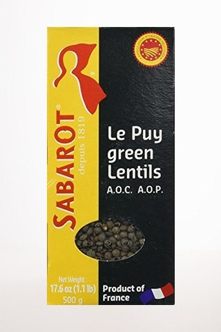 Gourmet Food - French Green Lentils From Le Puy By Sabarot 500g