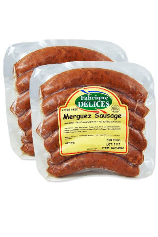 Lamb Merguez Sausage by Fabrique Delices (2 Packs)