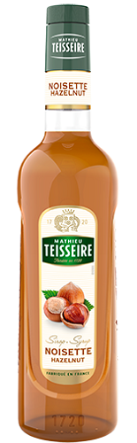 TEISSEIRE HAZELNUT SYRUP FOR DRINKS 70CL