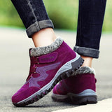 Women's Winter Shoes Thermal Villi Leather