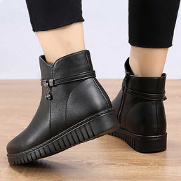 Women's Waterproof Winter Split Leather Boots ( HOT SALE !!!-60% OFF For a Limited Time Only )