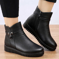 Women's Waterproof Winter Split Leather Boots
