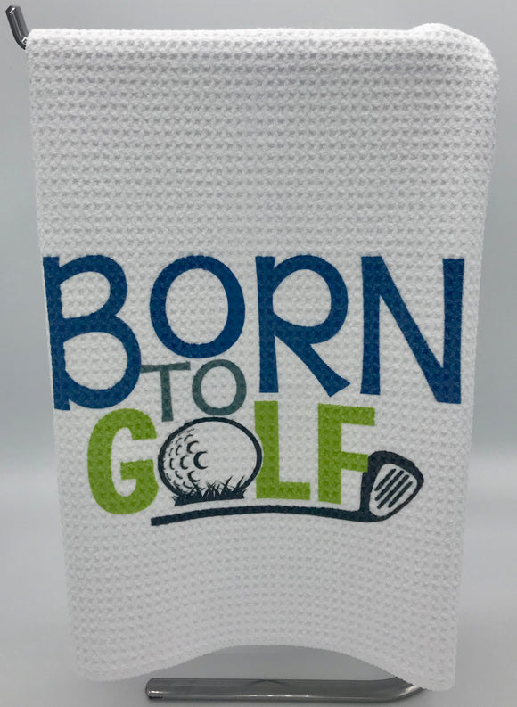 Calling all Golfers...Show your sport in your kitchen or bathroom with this Born to Golf towel