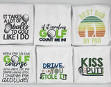 Hanging Golf Towels - Take your humor on the course with the perfect personalized golf towel