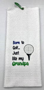 Junior Hanging Golf Towels - Teach the Kiddos young to express themselves on the course