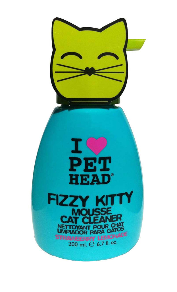 Pet Head Fizzy Kitty Mousse 190ml Straw/Lemon