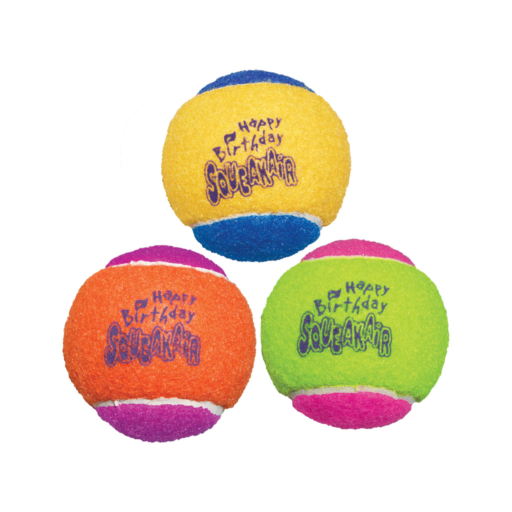 Kong SqueakerAir Birthday Ball Medium 3pk
