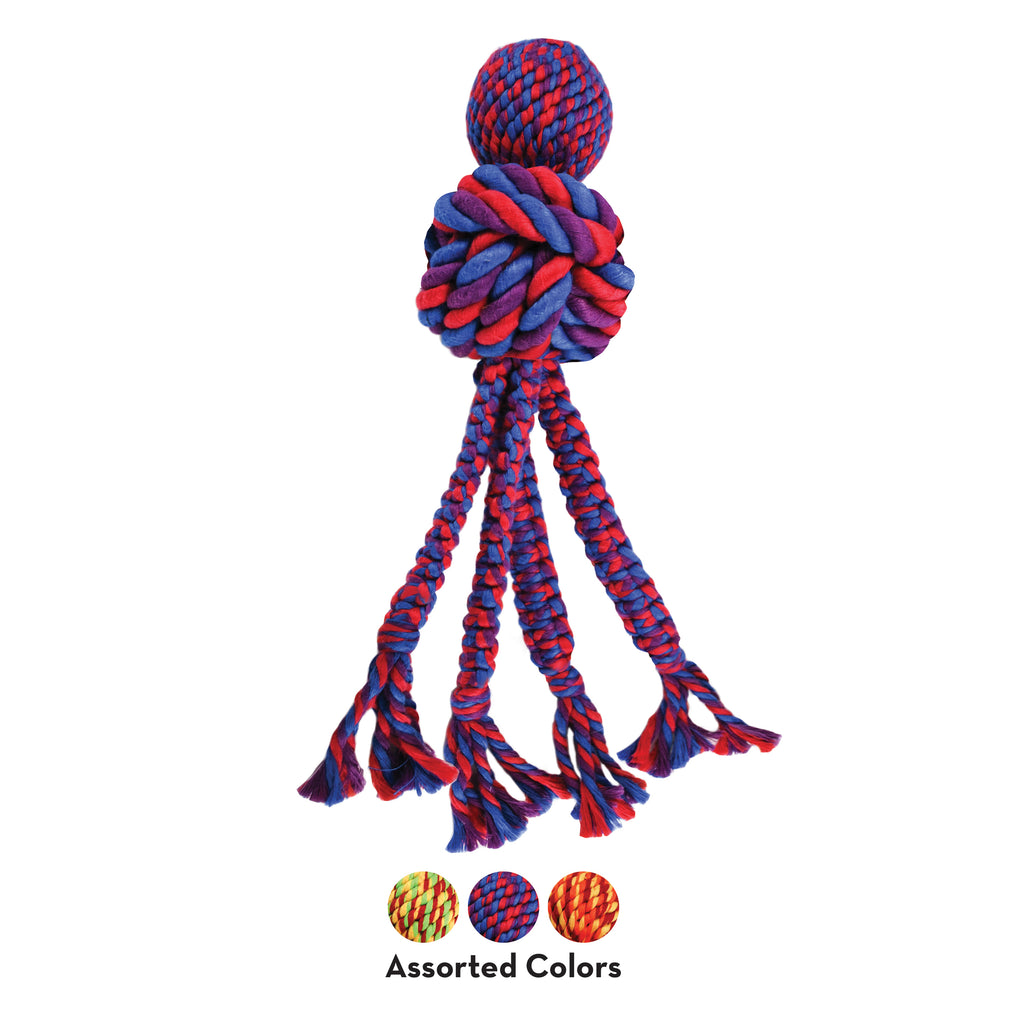 Kong Wubba Weaves w/Rope Assorted