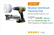 Load image into Gallery viewer, The REVOLVER DRILL BRUSH® POWER SCRUBBER QUAD PACK