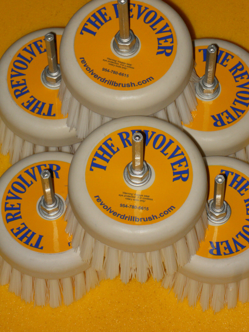 The REVOLVER DRILL BRUSH®-POWER SCRUB SIX PACK