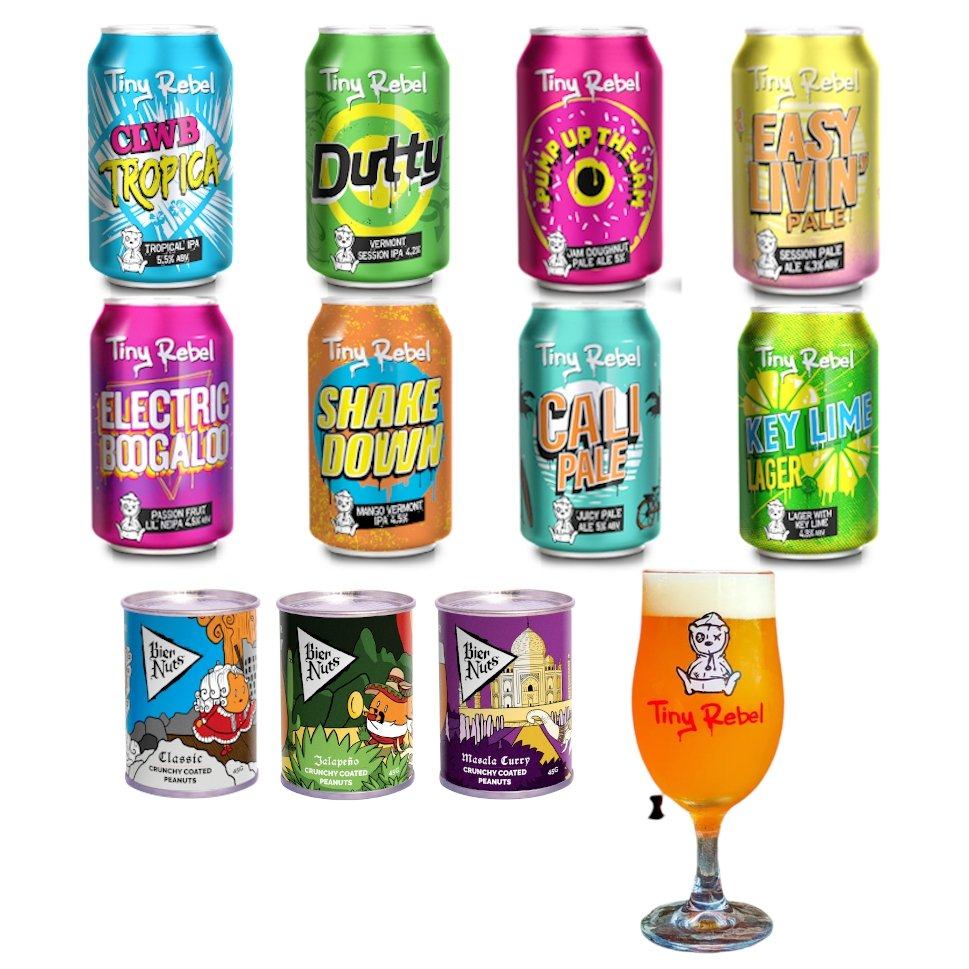Bier Nuts x Tiny Rebel: Beer Care Package V4 - Bier Nuts