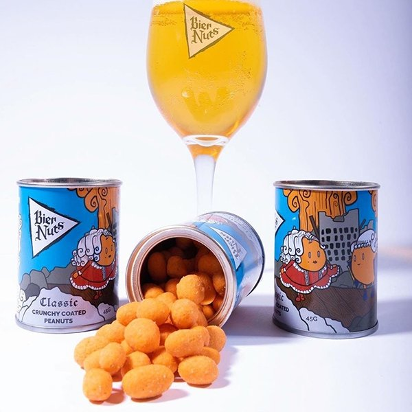 Mixed Case of 28 x 45g Cans - Bier Nuts
