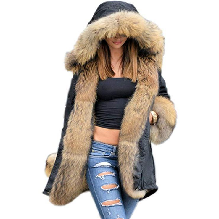 Fluffy Winter Faux Fur Overcoat