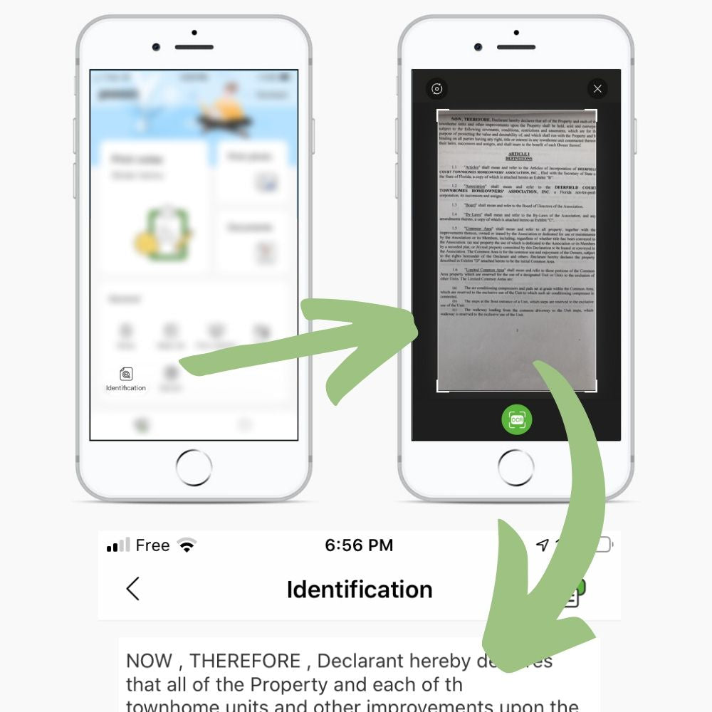 text identification and printing poooli app