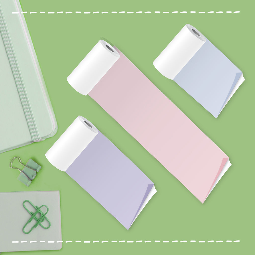 [NEW] PoooliPaper™ Sticky Colored Paper 3 Rolls - Version 2
