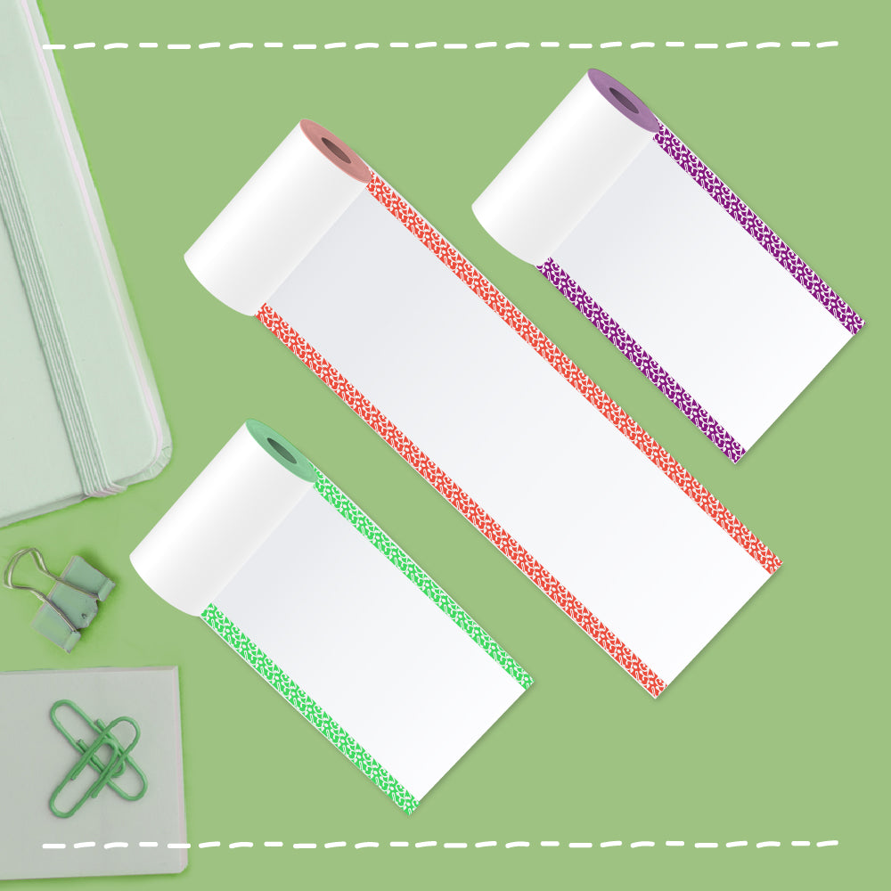 colored edges thermal paper rolls