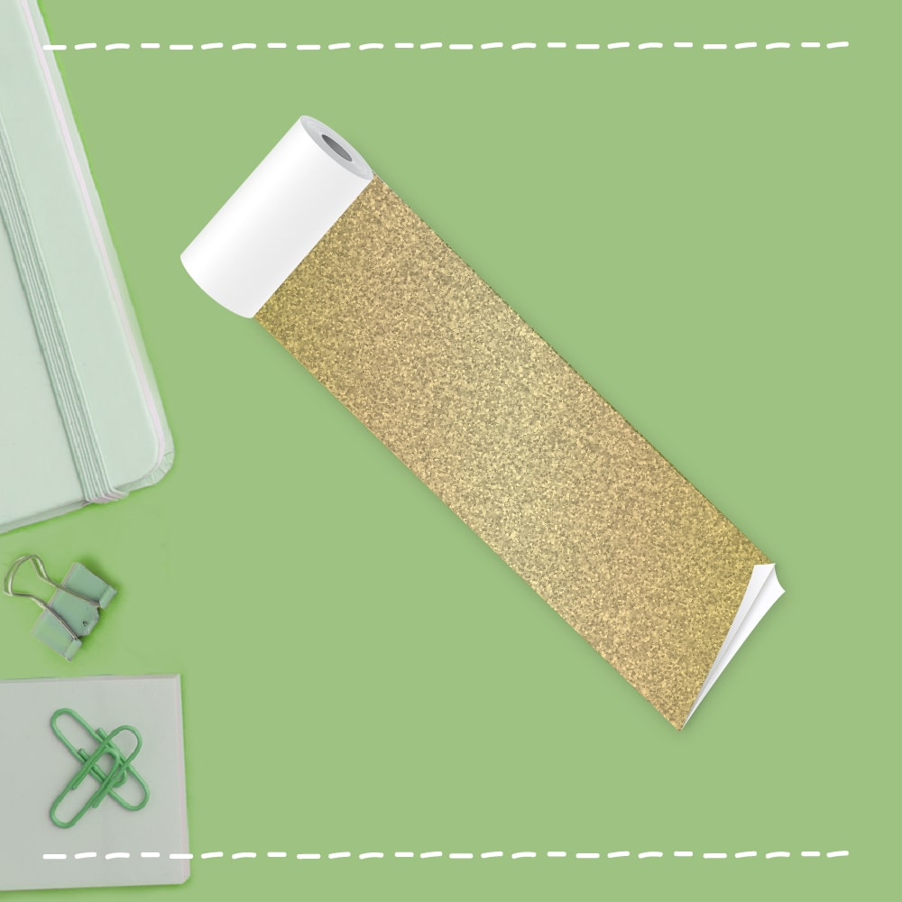 sticky gold thermal paper roll