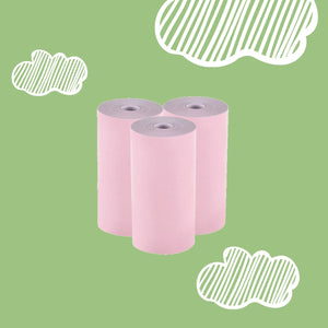 pooolipaper colored pink 3 rolls