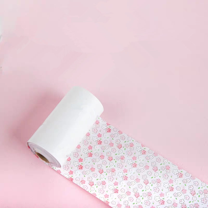 thermal paper rolls with pink flowers