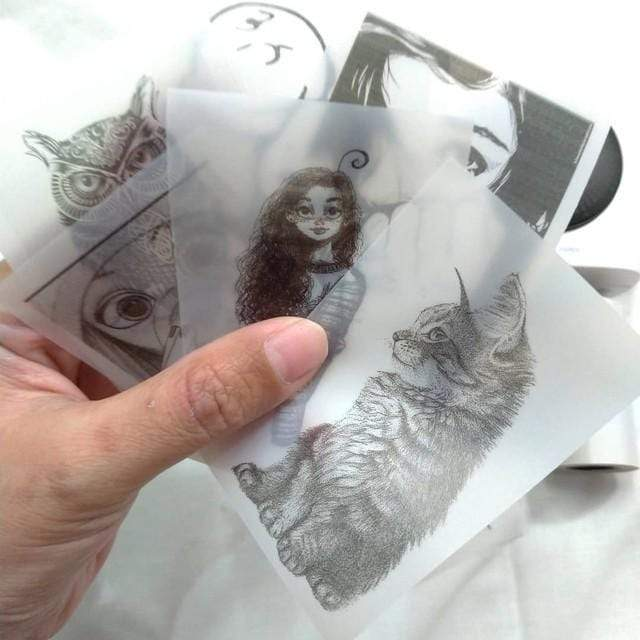 Polaroids printed with thermal pocket printer
