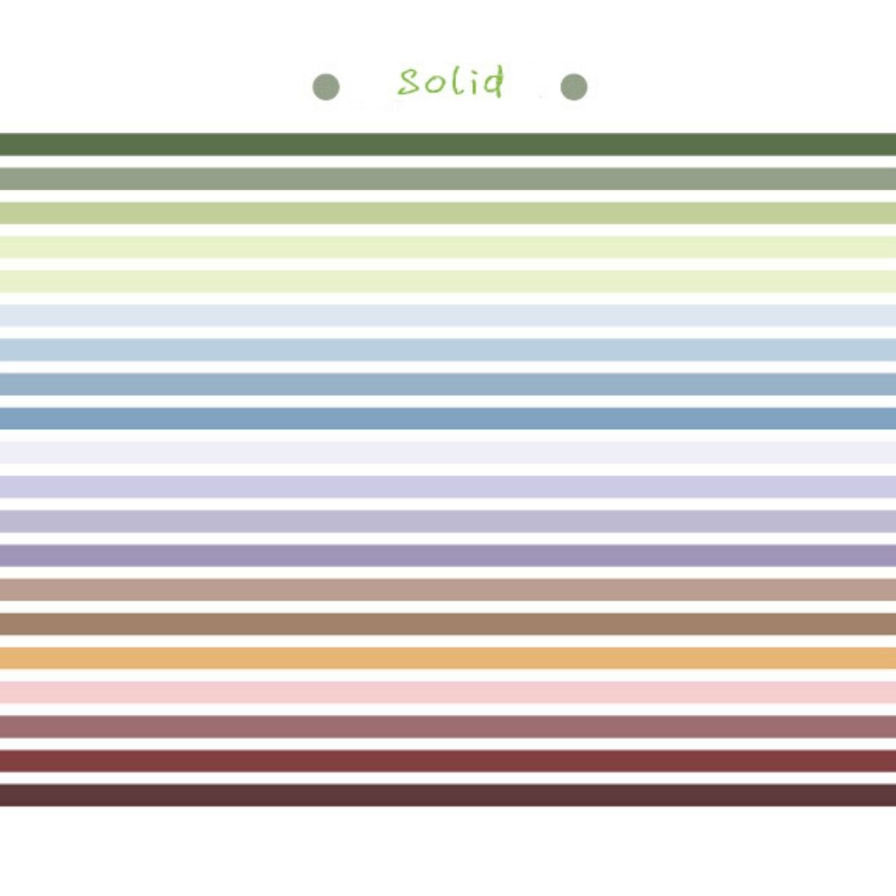 Poooli Solid Washi Tape
