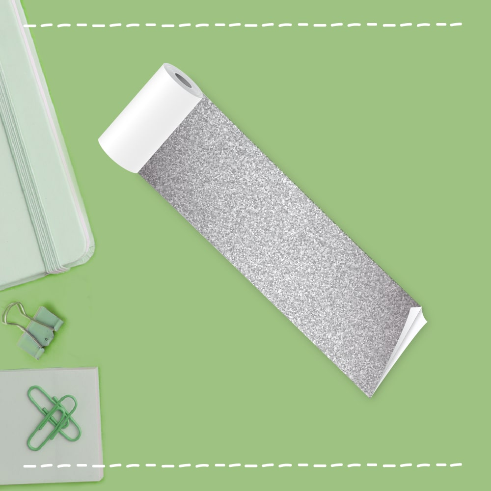 silver sparkling thermal paper roll
