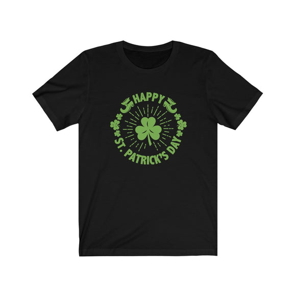 Leprechaun Shoes Four Leaf Clover St. Patrick's Day Shirt Unisex Jersey Short Sleeve Tee - FireCreekMercantile