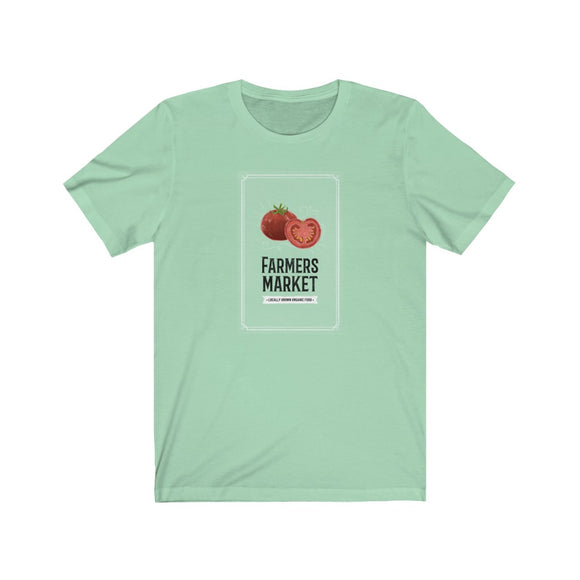 Farmer's Market Shirt, Locally Grown, Farm to Table, Organic Farmers Jersey Short Sleeve Tee - FireCreekMercantile