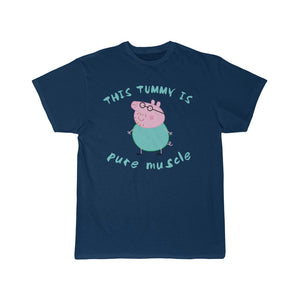 Daddy Pig, This Tummy is Pure Muscle Men's Short Sleeve Tee - FireCreekMercantile
