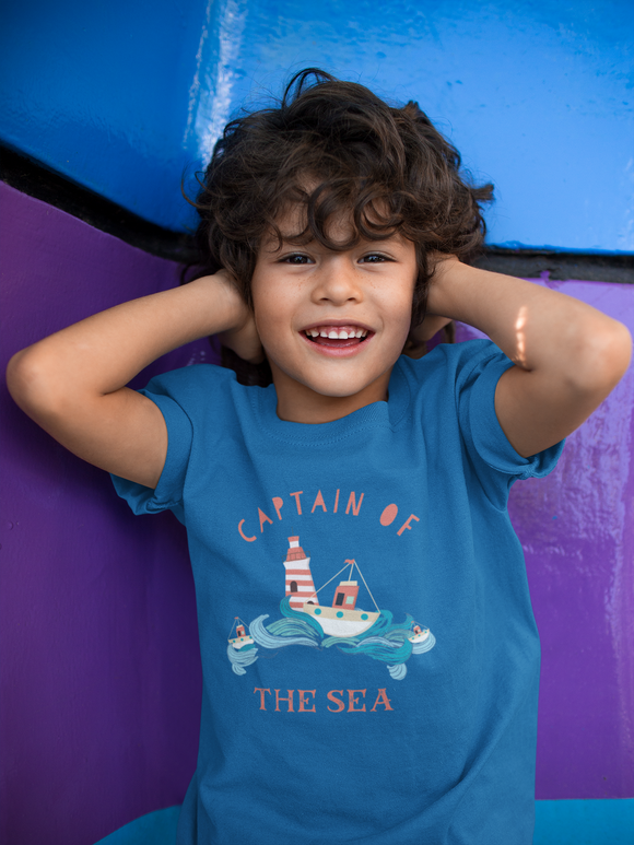 Captain of the Sea Kids Regular Fit Tee - FireCreekMercantile